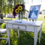 White Shabby Chic Entry Table