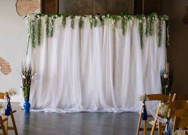 Wisteria Wedding Backdrop Rigby Rentals